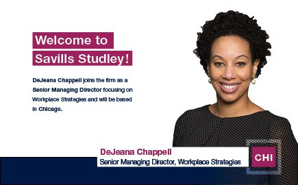 DeJeana Chappell Joins the Savills Studley Workplace Strategy Team