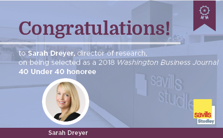 Savills Studley's Sarah Dreyer Earns 40 Under 40 Recognition